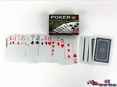 Quality Poker Card Game Plastic Playing Cards Large Print Bulk Lot TOM-F602