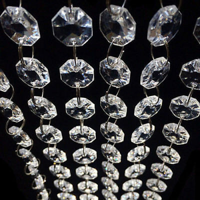 33 FT Clear Acrylic Crystal Bead Garland Chandelier Hanging Wedding Supplies New