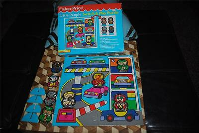 "Fisher Price Little People Switch & Play Puzzle Garage Mechanic 11"" Vintage 1992"