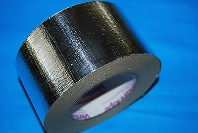 Silver Foil Aluminium Insulation Duct Tape AFC Reinforced 72mm x 50m rolls