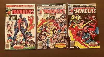 The Invaders 8, 12, 41, 1St App. Union Jack And Spitfire, # 41 Last Issue Lot  3
