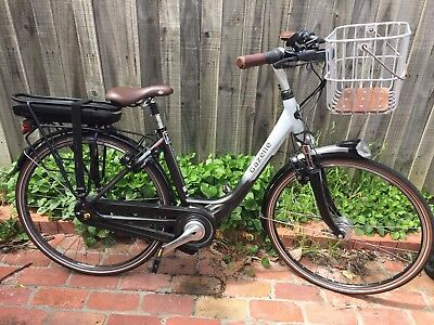 Gazelle Orange C8 Electric Bike with Brooks basket
