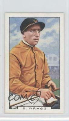 1936 Gallaher Famous Jockeys Tobacco Base #28 Sam Wragg MiscSports Card 1x2