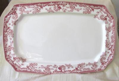 "Spode Delamere Cranberry 17 7/8"" Platter Absolutely Gorgeous"