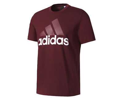 Adidas Men's Essentials Linear Tee - Maroon