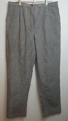 Chefs Pants Black And White Checkered 45cm Waist 105cm Length