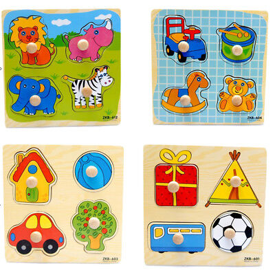 Pop Cartoon Wooden Jigsaw Puzzle Toy Children Kids Baby Learning Educational