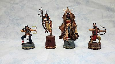 One Piece FRANKLIN MINT Sioux vs. Crows Indian Chess Set