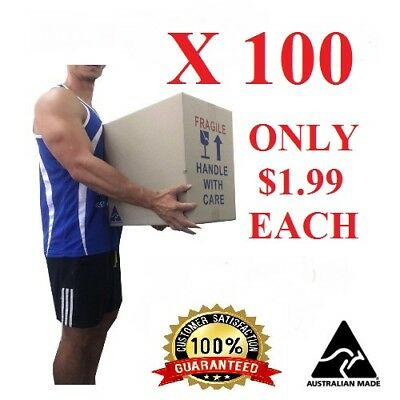 Bulk 100x50L moving boxes Packing Boxes Removal Moving Storage Heavy Duty Carton