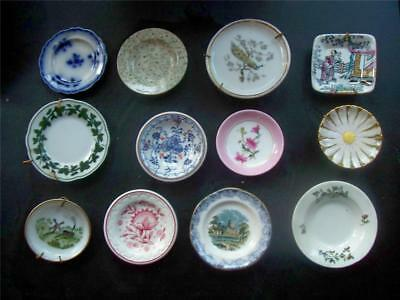Lot of 12 Antique Cup Plates & Butter Pats