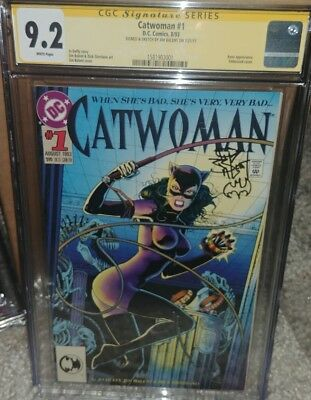Catwoman #1 CGC SS 9.2 signed & sketches by Jim Balent