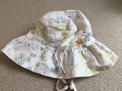 Baby Girls Bebe By Minihaha Floral Summer Hat Size M