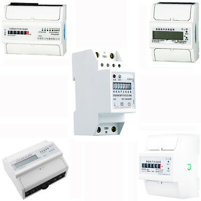 Single / Three Phase Electricity Sub Meter Digital kWh DIN Rail Power Kinds