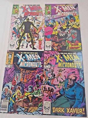 X-Men & The Micronauts Lot of 4 1984 Four Issue Limited Series Dark Xavier! NM