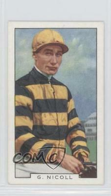 1936 Gallaher Famous Jockeys Tobacco Base #13 George Nicoli MiscSports Card 1x2