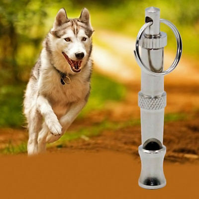 Practical Pet Dog Whistle Adjustable Sound Key Chain Puppy Training Collie x 1
