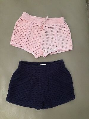 Country Road Girls Broderie Shorts X 2 Pairs Size 18-24months