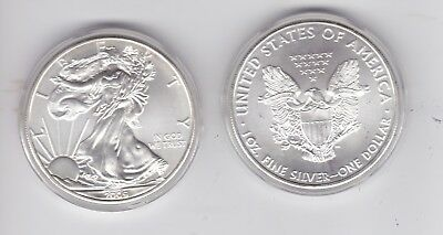 2009 USA United States America Silver Eagle 1oz $1 One Dollar Coin in capsule