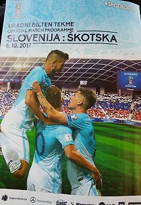 Slovenia v Scotland 2017 World Cup 2018 qualifying programme (Slovenian edition)