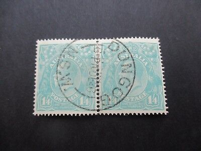 KGV Stamps: 1'4 Turquoise Pair Dungog Pair - Great Item  (A34)