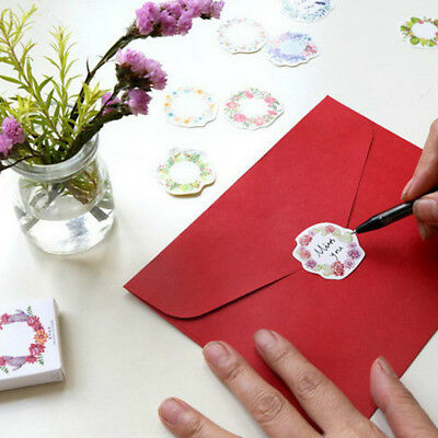 45pcs Paper Floral Writable Christmas Gift Packing Label Seal Stickers Decor PH