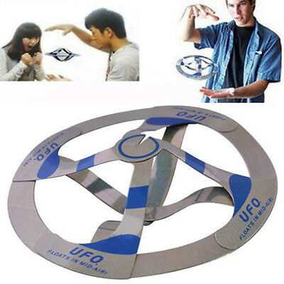 Interesting Mystery UFO Floating Flying Disk Hovers Saucer Magic Trick Toy PH
