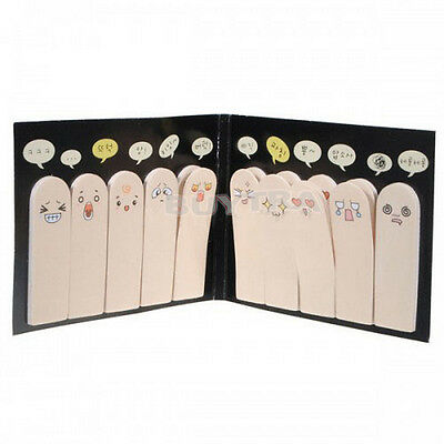 Special 200 pages Adhesive Paper Cute Fingers Sticker Bookmark Memo Viscid PH