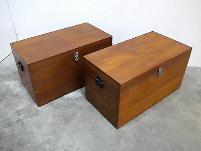 Excellent Pair of Vintage Teak Storage Chests/ Toy Boxes/ Coffee Tables  (119)