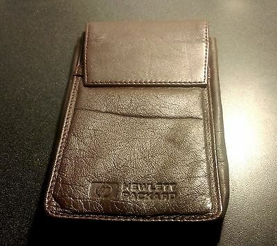 HP brown soft leather case for clam shell calculators