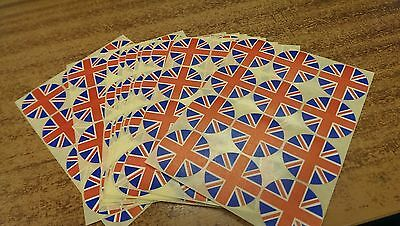 union jack lapel stickers