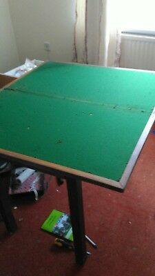 Games table rotating fold out card poker baize