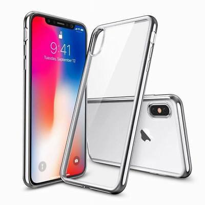 For Apple iPhone 7 8 X Case Clear Hybrid Slim Shockproof Soft TPU Bumper Cover