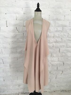 BNWT Witchery Sleeveless Waterfall Vest Gillet in Nude