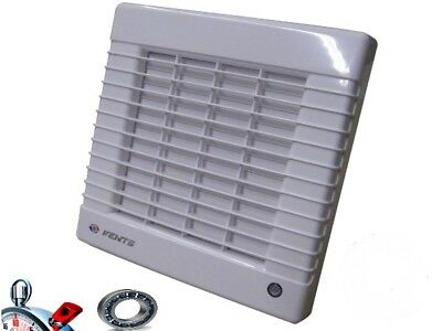 Bathroom Vent 125 MATL,185 M³/H , with Blinds, Timer, Ball Bearings