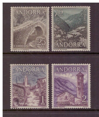 Andorra Spanish MNH 1963  Landscapes set mint stamps