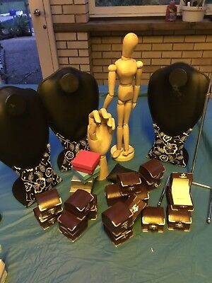 Assorted Jewelry Stands And Ring Boxes