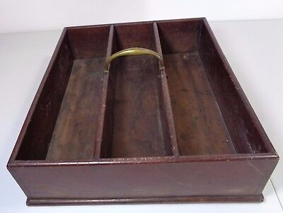 Vintage Possibly Antique Good Quality Wooden Cutlery Tray Box New Bond St London