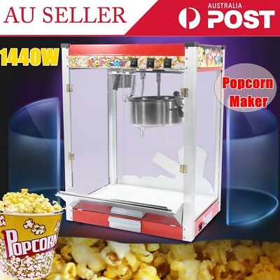 Commercial Stainless Steel High Capacity Popcorn Maker Snack Automatic Machine