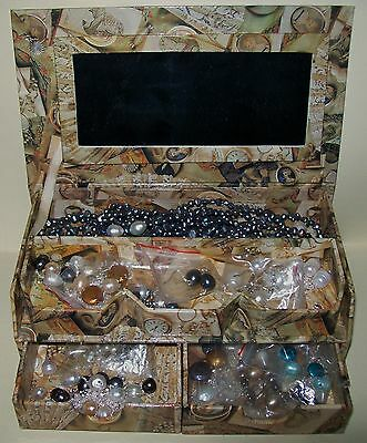 JEWELLERY BOX w/FRESH WATER PEARL SETS, PIECES