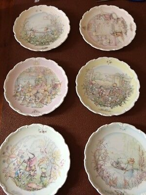 6 X Stunning  Royal Doulton Wind In The Willows Plates