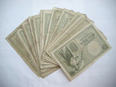Reichsbanknoten 30 x 10 Mark 6.10.1908