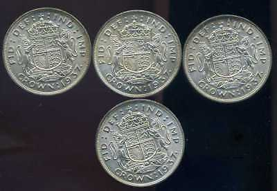 GB 1937 high grade silver crowns x 4 UK ONLY