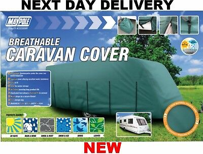 New Green Deluxe 4 Ply Caravan Winter Summer Cover Breathable 23 24 25 Ft