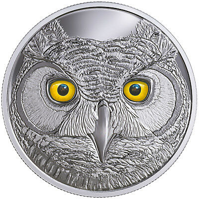 15 CAD Silber Proof In the eyes of the great horned Owl Kanada 2017 Canada