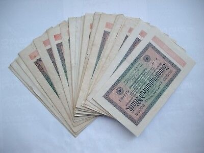Reichsbanknoten 48 x 20000 Mark 20.2.1923