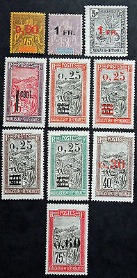 Stamp MADAGASCAR Stamp (French Colony French) YT n°122 à 130 N (Col3) State