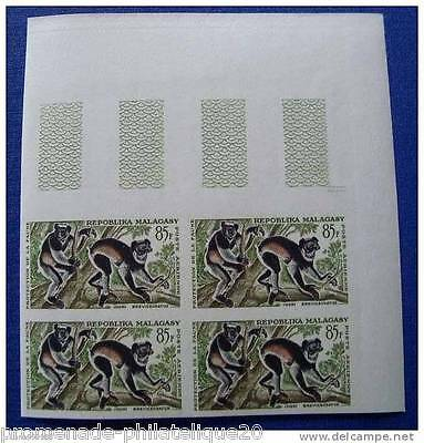 MADAGASCAR stamp aerial scn and tellier no.85 not serrated - Block 4 - n