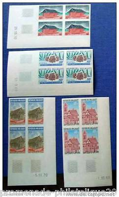 MADAGASCAR stamp-stamp Scn and Tellier n°468 à 471 not serrated-block 4-n