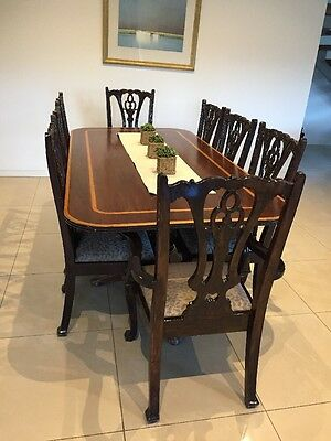 Antique wood Dining Table And Chairs