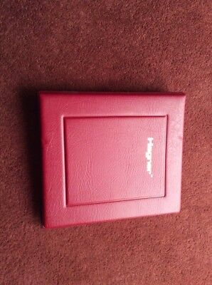 hagner 4 ring binder with approx 30 single sided genuine hagner sheets excellent